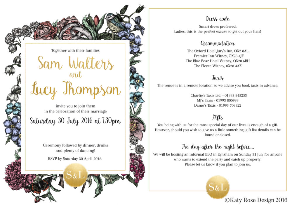 Sam Lucy Invitation