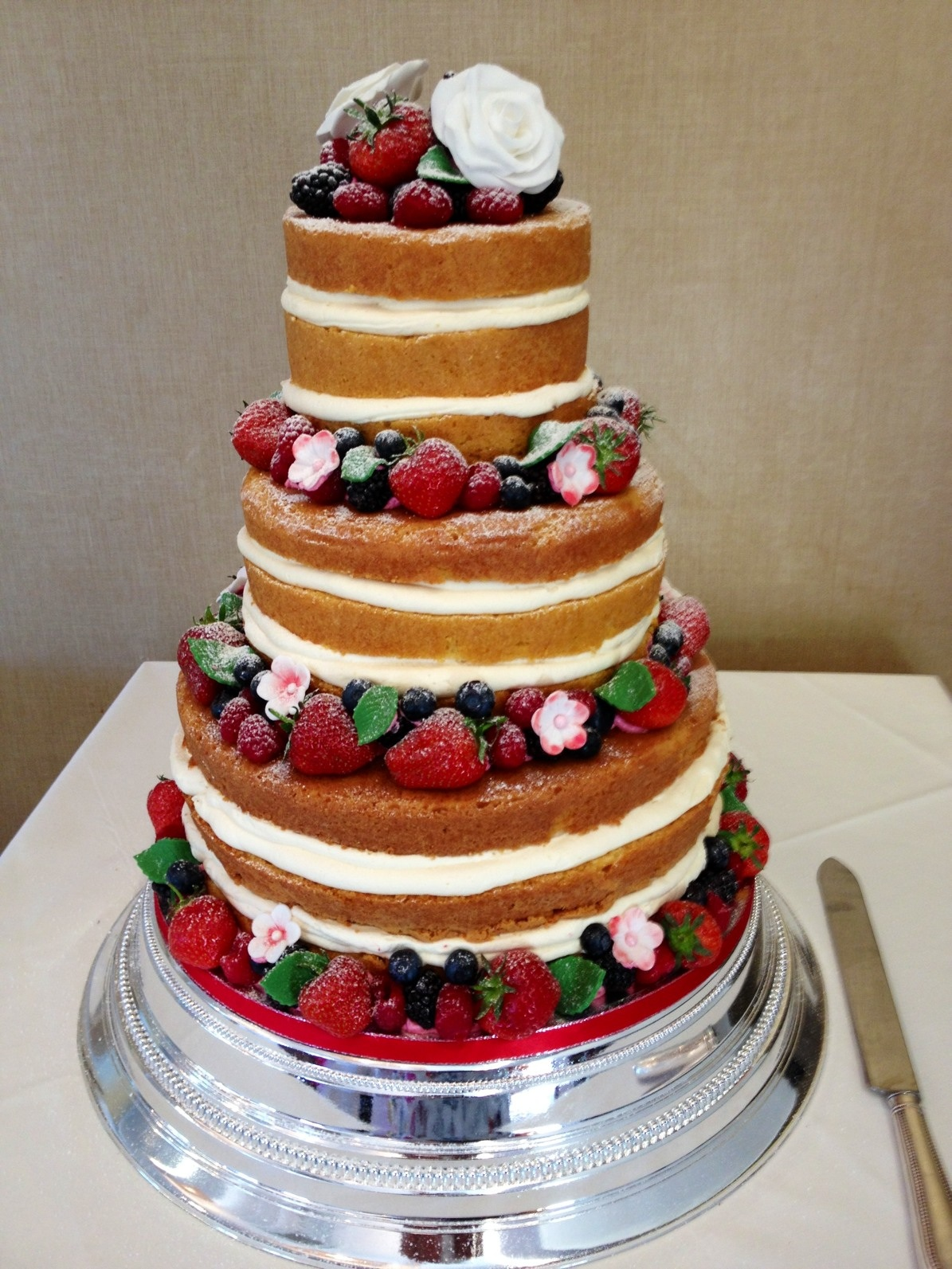 Naked wedding cake belle bakes isle of wight brides